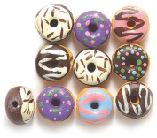 Shipwreck Peruvian Hand Crafted Ceramic Tiny Donut Beads, 10mm, Assorted, 10 Per Pack
