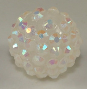 22mm Rhinestone Bead Crystal 8 Pieces