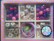Bead Alphabet Pink Mini-Box