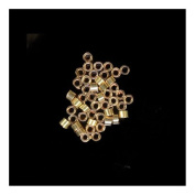 "Crimp Beads 1mm Gold Fill USA Made 0.044"" Hole"