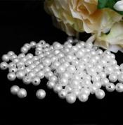 10 mm White Pearls Faux Imitation Plastic Beads - 1 lb lots