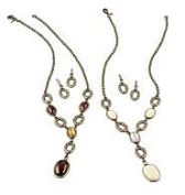 Simple Glam Y Necklace Gift Set Brown By Avon
