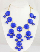 Big Size Royal Blue Bubble Necklace,Bib Necklace,Statement Necklace,Princess Bib Bubble Necklace