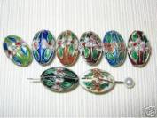 35 New 12x18mm Mixed Oval Cloisonne Beads