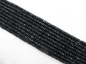 Black Onyx Faceted Beads 2x4mm Roundell 200pcs 15.5'' Per Strand