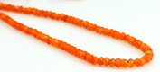 Natural Orange Carnelian Faceted 4-5mm Beads String Strand 14""