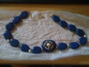 Avon Embellished Necklace Blue