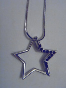 Silver/Black Crystal Star Necklace