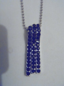 Silver and Black Crystal Line Necklace