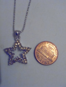 Silver and Brown. Crystal Star Necklace