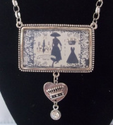 Vintage Woman Square Piece Paris Designer Necklace