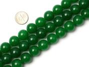 """14mm Round Green Jade Beads Strand 15"""" Jewellery Making Beads"""