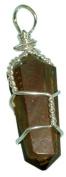 3.8cm Wire Wrapped Gemstone Pendant-Tiger Eye Quartz