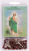 Rosarybeads4u Rosary Rosaries Beads & Novena Booklet St Saint Jude Brown