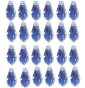 5.5x11mm Prteciosa Czech Crystal Faceted Drop Sapphire Ab Beads 498 68 301 Package of 24