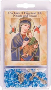 Rosarybeads4u Rosary Rosaries Beads & Novena Booklet Blue Our Lady Perpetual Help