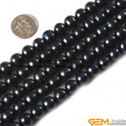 Gem-Inside 9-10mm Orange Colour Freshwater Pearl Beads Strand 15 Inches
