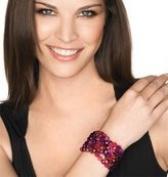 Red All Over Beaded Bracelet By Avon