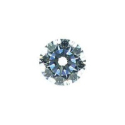 White Round CZ Fancy Cut Loose Unset Gemstone 6.5mm