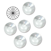 10mm Preciosa Czech Crystal Faceted Round Rivoli Drop Clear Beads 498 61 306 Package of 24