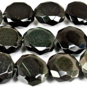 Rainbow Obsidian Beads Faceted 11x12mm Coin, 34 pieces