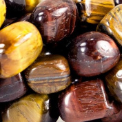 9mm Tiger Eye Plain Nuggets Beads, 14 inch