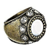 White Glam Ring By Avon