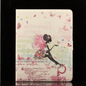 Flip Man Made Leather Wings Print Dress Girl Case Cover Stand Pouch for Apple Ipad Mini