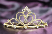 Beautiful Bridal Wedding Gold Tiara Crown in With Leaf Crystal C16055