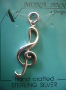 G Clef Sterling Silver Charm - Music Symbol