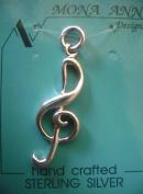 G Clef Sterling Silver Charm - Music Symbol