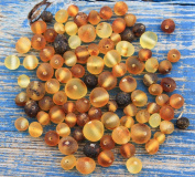 50 Pcs Loose Raw Baltic Amber Beads 4-7mm