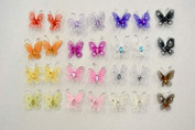 144pc 2.5cm Nylon Butterflies-Shocking Pink or Your Choice of Colours