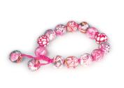 Viva Beads Pink Paradise Bracelet | Chunky Tie | - Handmade Clay Beads Jewellery 05401822