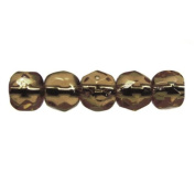 Mode Beads Czech Glass Fire Polished Beads, 300 Beads, Smokey Topaz