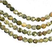 Rainforest Jasper 4mm Round Faceted Beads Strand 15.5 Inch