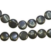 "Pyrite Disc Medium Beads Natural Genuine Strand 12mm 15.5"""