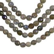 "Labradorite Faceted Round Beads Medium ~5mm 15.5"" Strand"