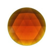 Stained Glass Jewels - 50mm Round Faceted - Dark Amber