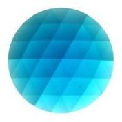 Stained Glass Jewels - 50mm Round Faceted - Turquoise
