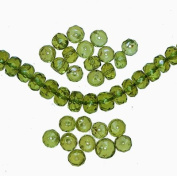 Peridot Genuine Gemstone Larger Faceted Rondelle Beads 5mm-5.5mm