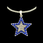 From the Heart Beautiful Blue & Clear Crystal Rhinestone Star Necklace on 46cm Silver Metal Chain-Star is approximately 2.5cm long & 2.5cm wide.Gift Boxed -Celebrate the Dallas Cowboys or any Occasion with these Beautiful Earrings!!!They Sparkle!!!
