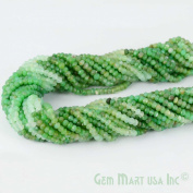 "1 Strand Chrysoprase Micro Faceted Rondel 3-4mm 14"" Length Aaamazing Quality 100 Percent Natural.(rlch-70002)GemMartUsa Gemstone"