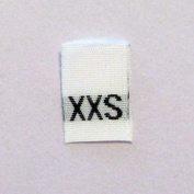 Size XXS (Extra Extra Small) Woven Clothing Size Tags