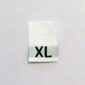 Size XL (Extra Large) Woven Clothing Size Tags