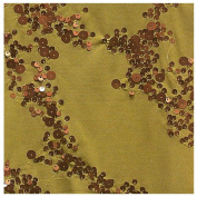 2.4cm Wide Rapture Sequins (Olive/Copper) by the Yard