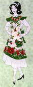 "Daisy Kingdom Easy Cut and Sew FLIRTY APRON Kit ""POINSETTIA"" Christmas"