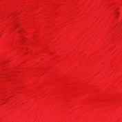 Faux Fur Luxury Shag Fire Red Fabric