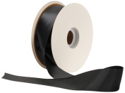 Offray Single Face Satin Craft 3.8cm by 50-Yard Ribbon Spool, Black
