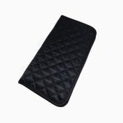 NaRaYa Handmade Ladies Purse Soft Wallet Black Satin Fabric